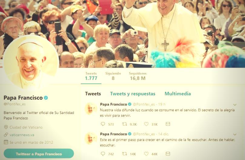 El Papa Francisco y las redes sociales